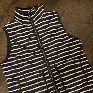 J. Crew Striped navy and white vest size L